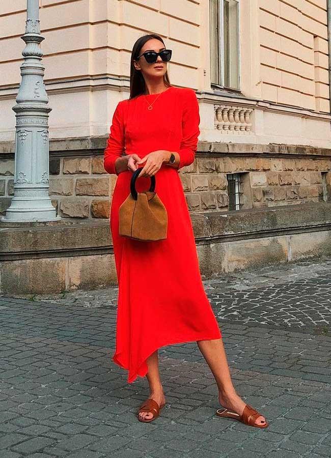 look monocromátcio all red