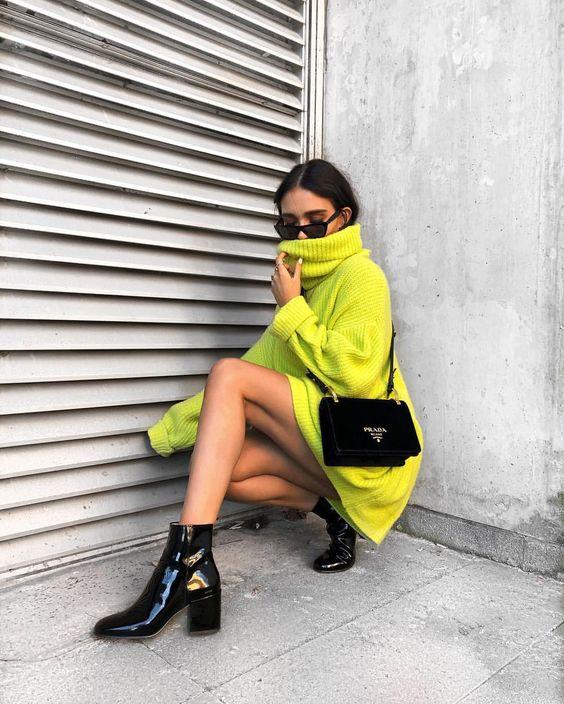 Suéter non e ankle boot