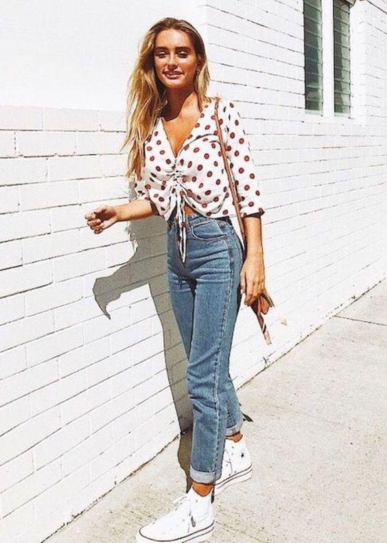 calça jeans e all star