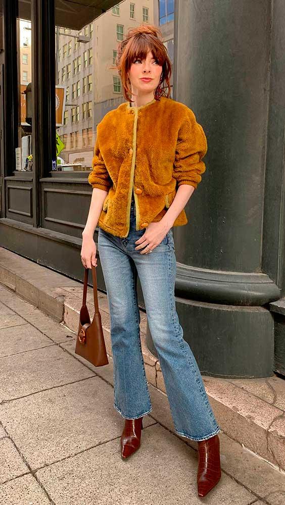 casaco tedy ber com jeans