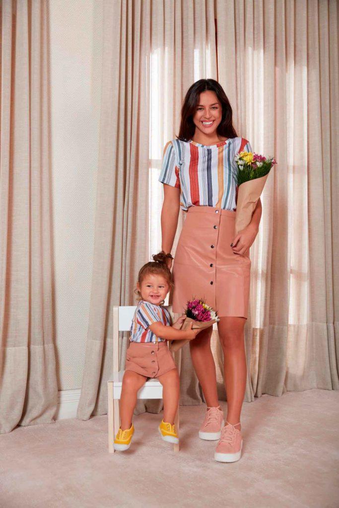 look combinadinho mãe e filha