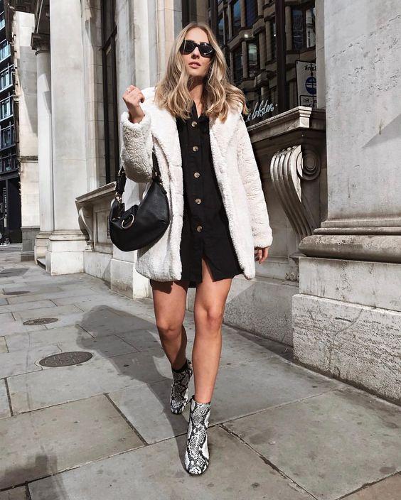 sobreposição com camisa e casaco