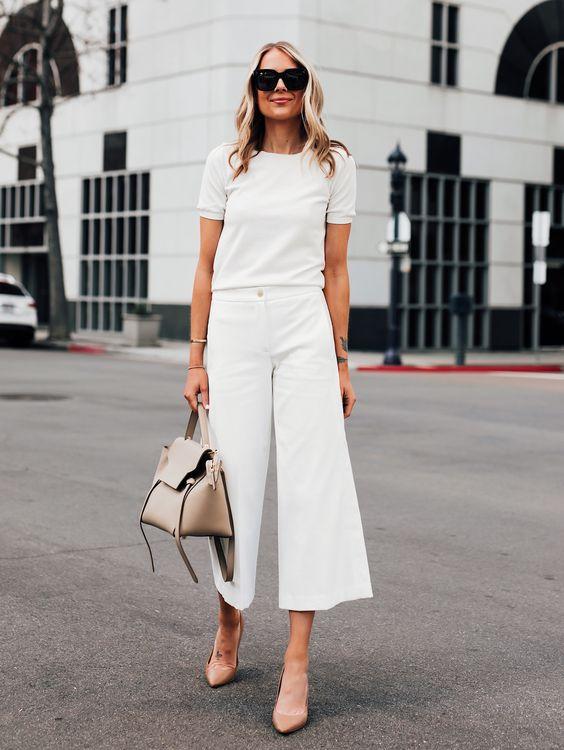 blusa branca e calça branca