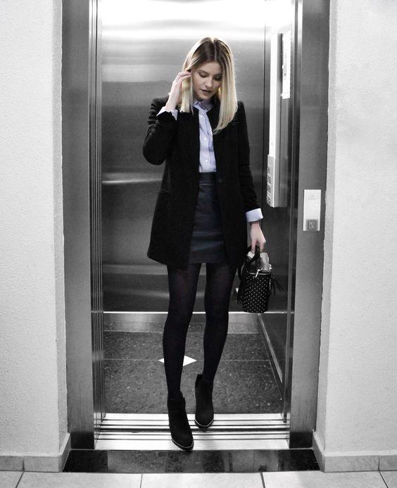 minissaia e meia-calça