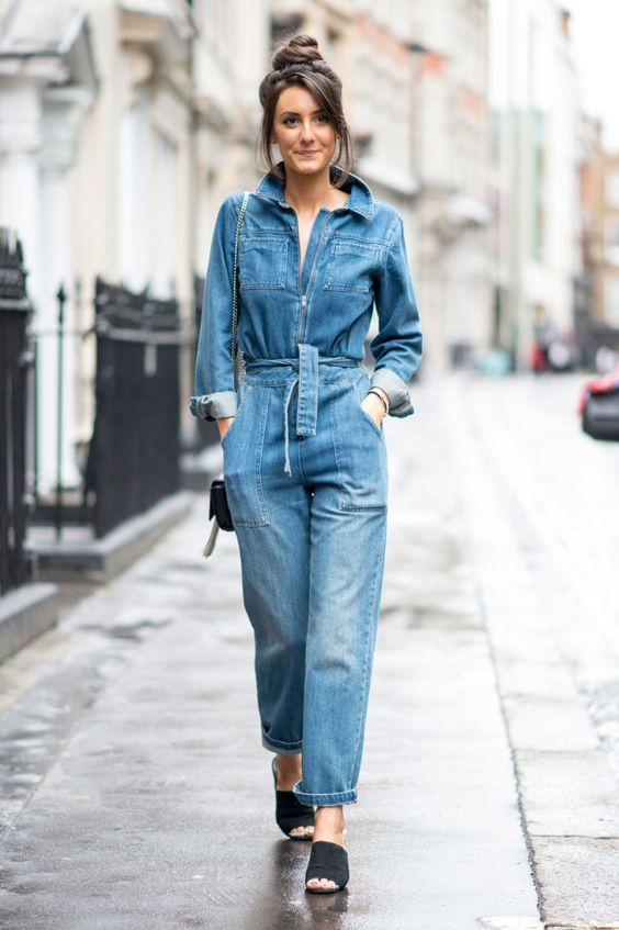macacão casual jeans