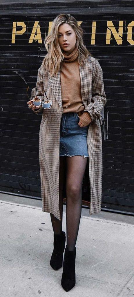 maxi casaco e suéter