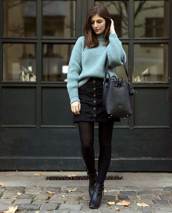 suéter com minissaia