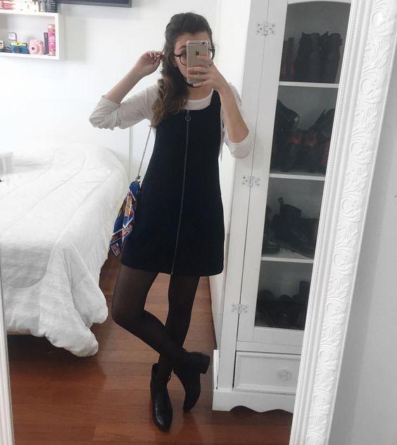 sobreposição com meia calça