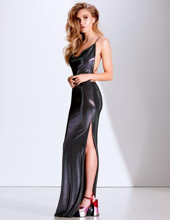 vestido preto com brilho