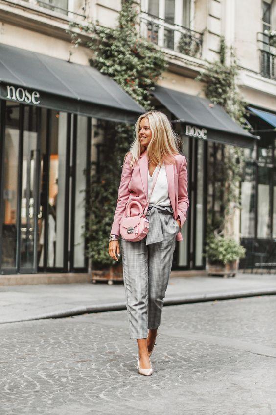 blazer e calça de alfaiataria