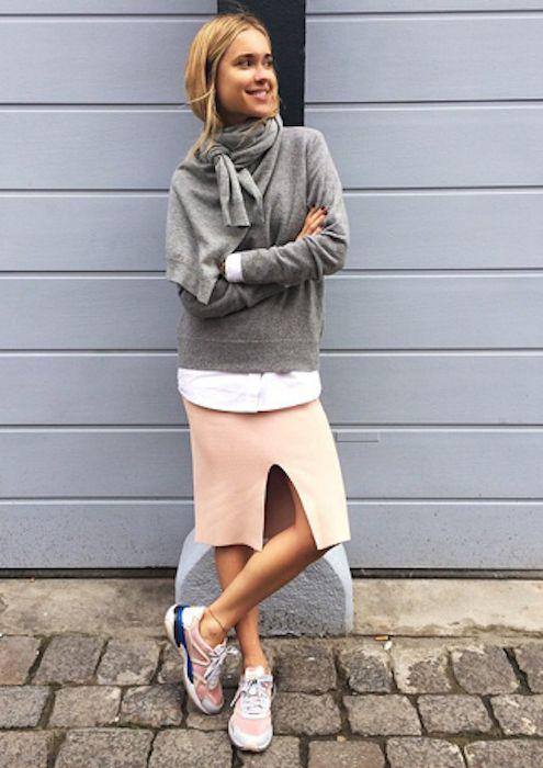 suéter inza + rosa saia lápis