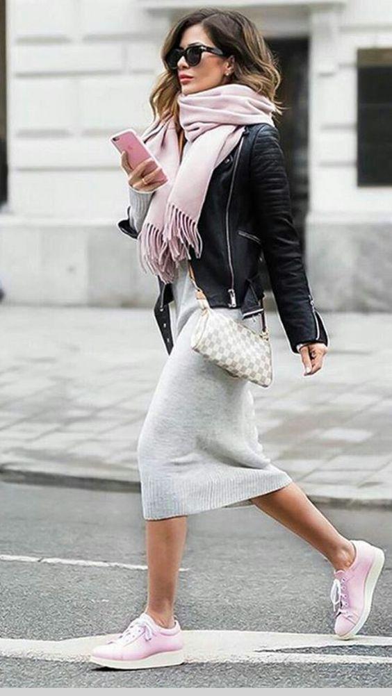 vestido inza + rosa cachecol