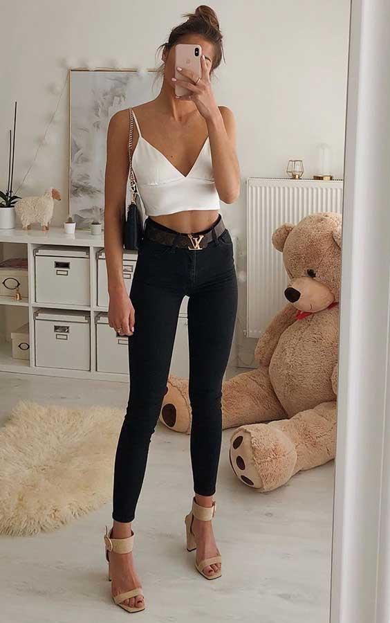 looks simples e estilosos com preto e branco