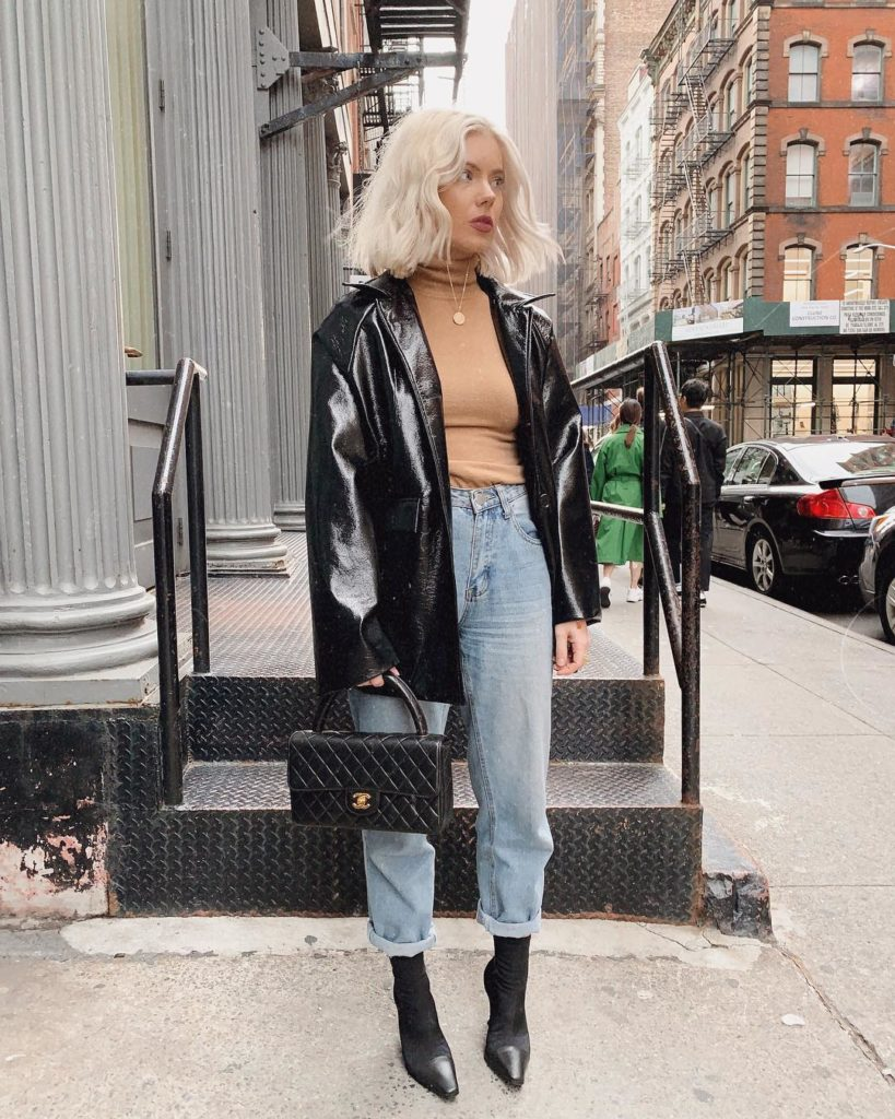 mom jeans e sock boots