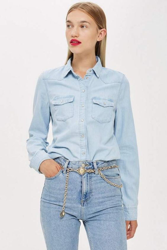 camisa jeans western