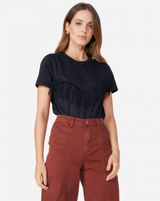 blusa com fanjas