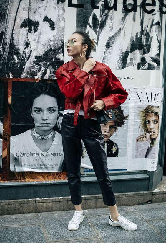 jaqueta de couro de vinil