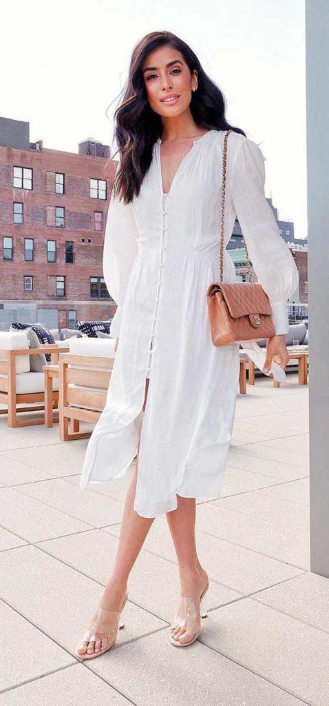 trends, vestido e sandália de plástico