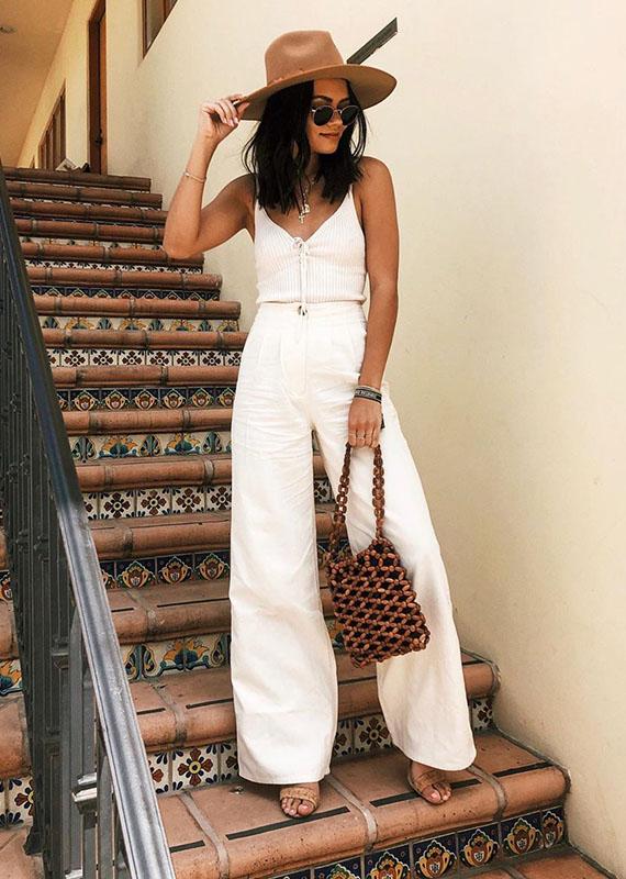 Michelle Infusino, calça branca