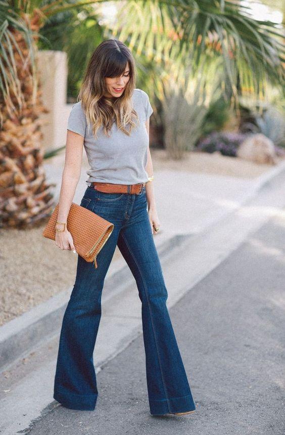 roupas para trabalhar, com calça jeans