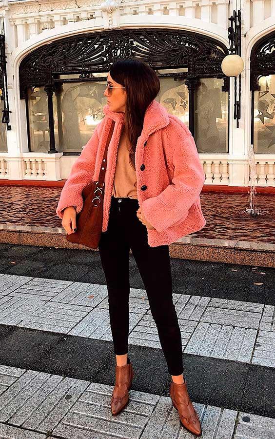 look com peças rosa