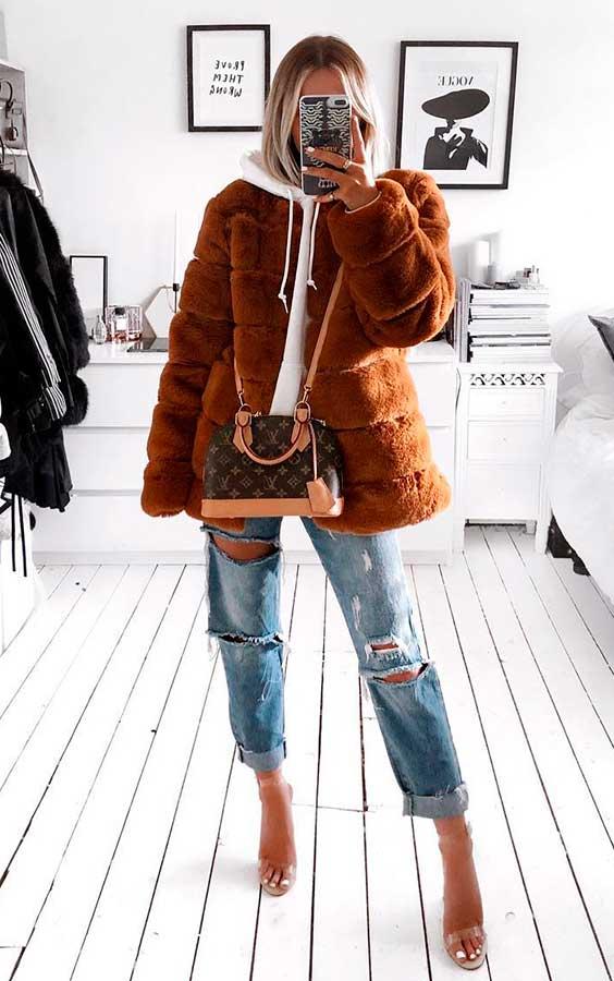 casaco de pelinho teddy bear