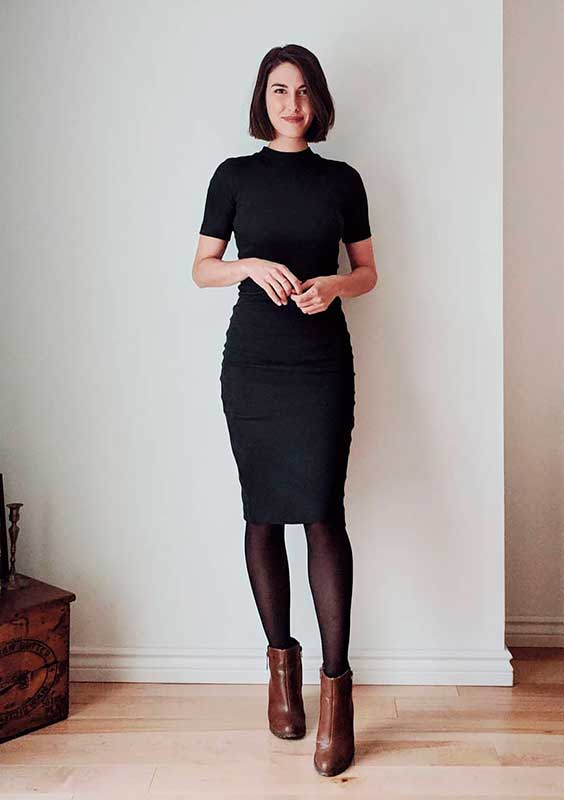 Petra alexandra, vestido tubinho preto