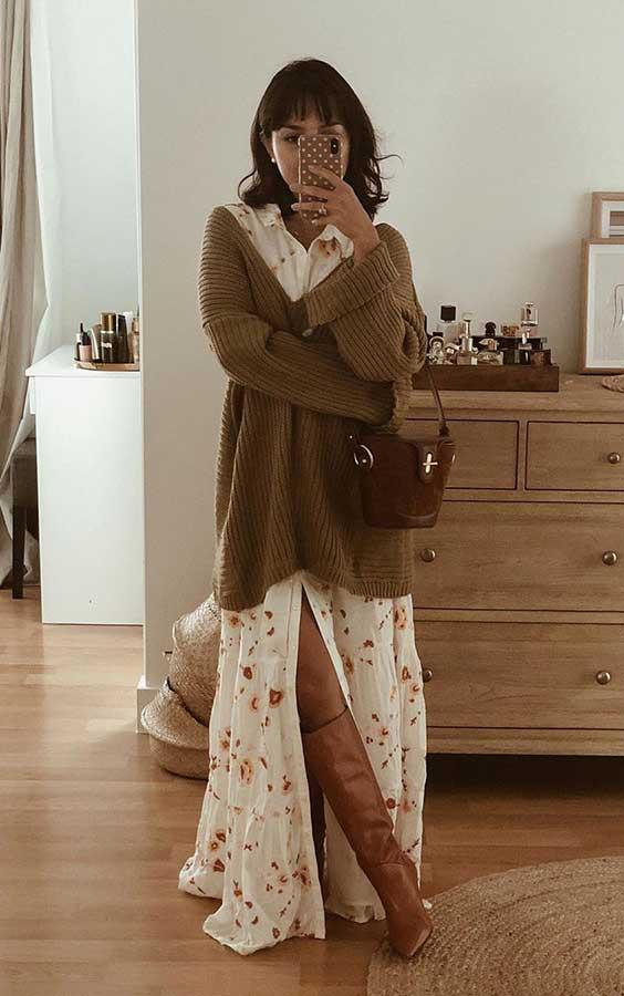 look romântico com vestido longo