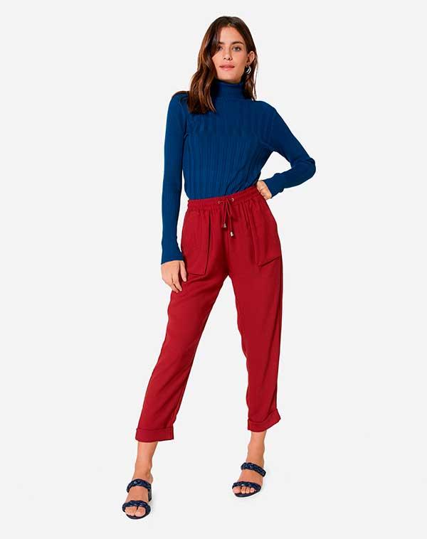 roupas para trabalhar, suéter azul