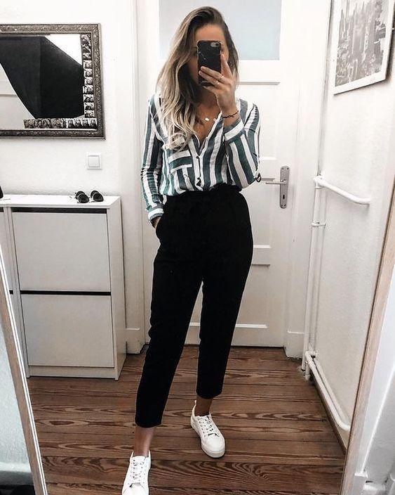 roupas para trabalhar, camisa listrada