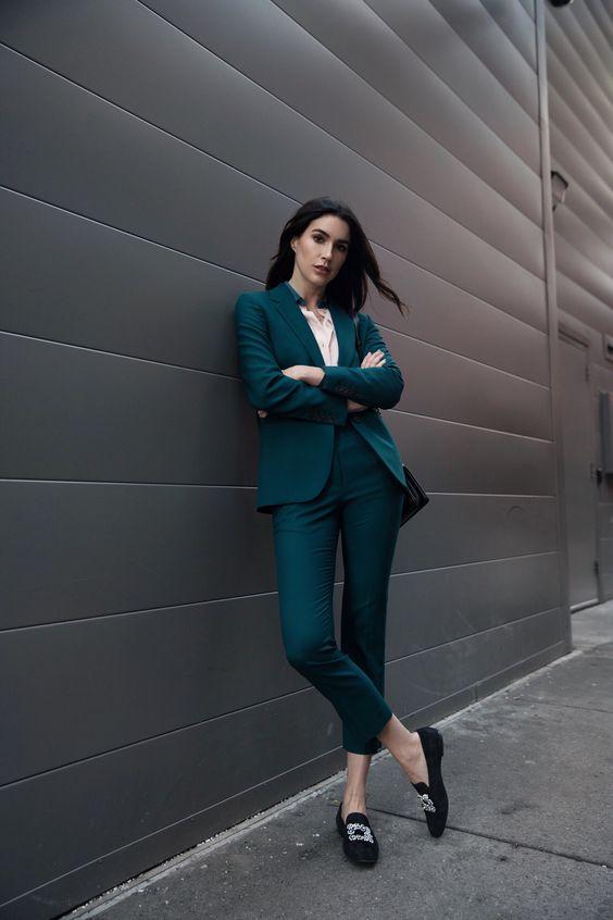roupas para trabalhar, terninho verde
