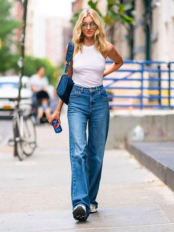 look básico com calça jeans