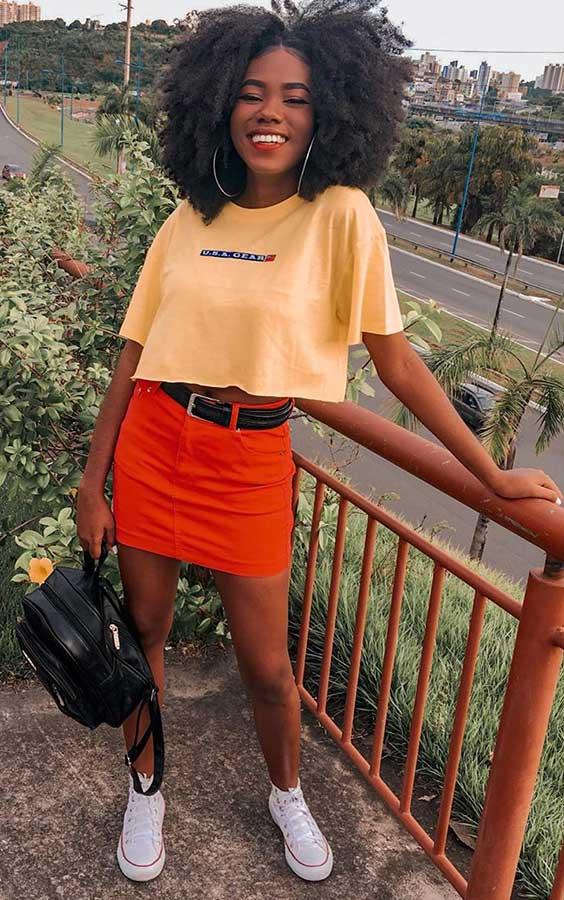 cropped e minissaia laranja