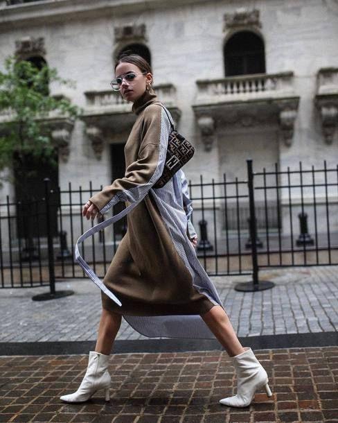 street style com bolsa baguete