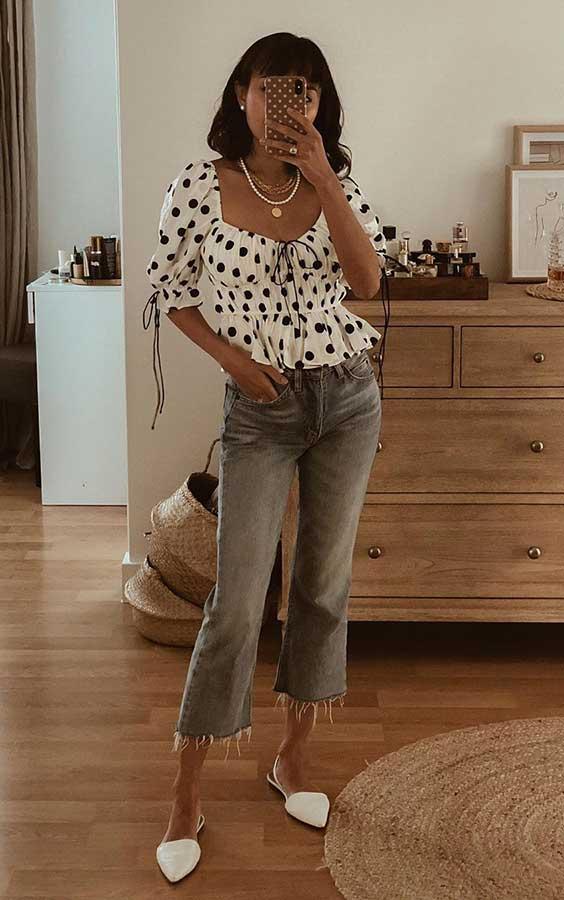 look lady like com calça jeans