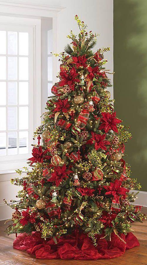decoração de natal, arvore vermelha