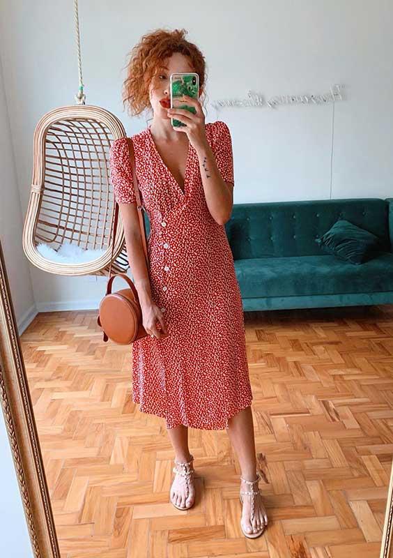 vestido envelope vermelho