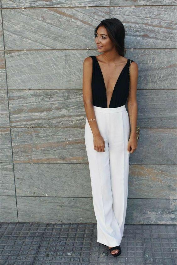 look de natal, body preto e calça branca