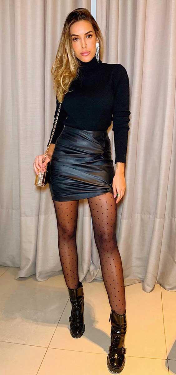 Giovanna Morete com vestido curto um ombro só