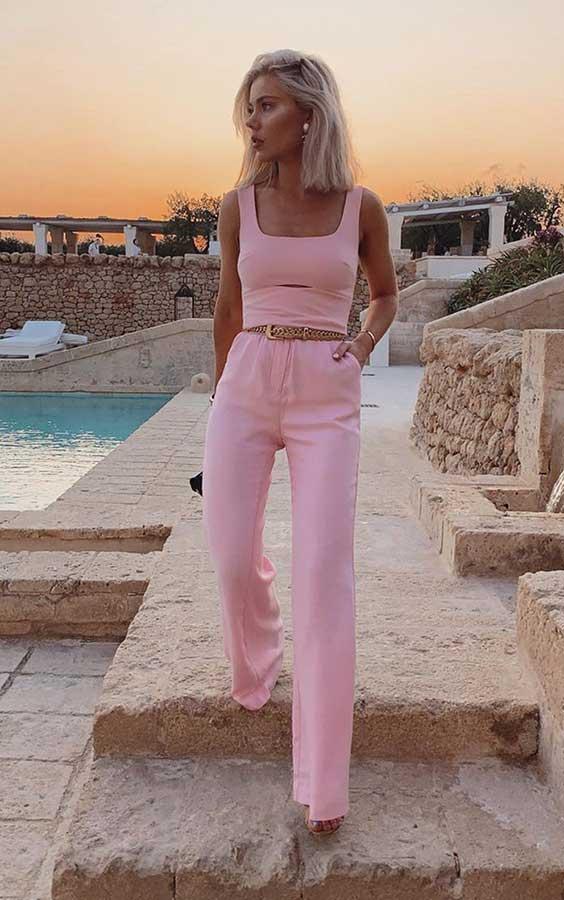 conjuntinho rosa