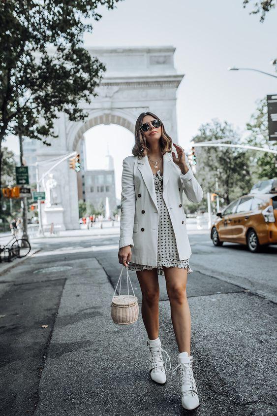 blazer com vestido