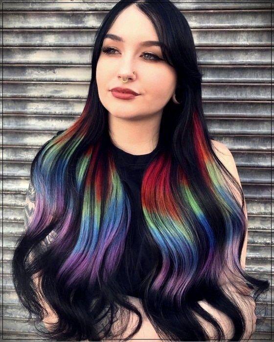 Cabelos coloridos holográfico