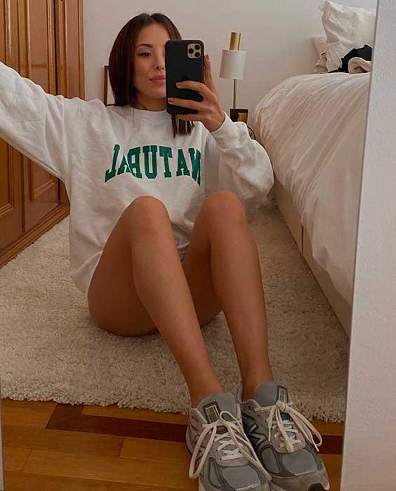 Pijama, moletom branco estampado