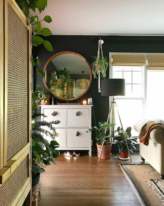 sala com plantas, urban jungle