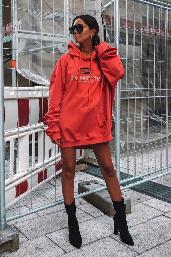 hoodie oversizes vermelho