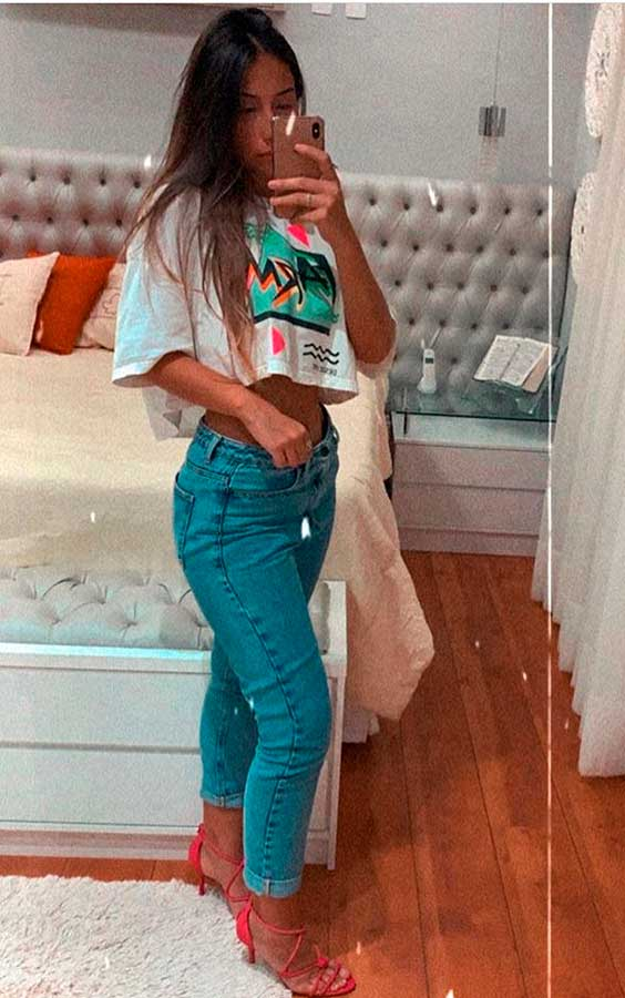 t-shirt cropped, calça jeans, looks-basicos