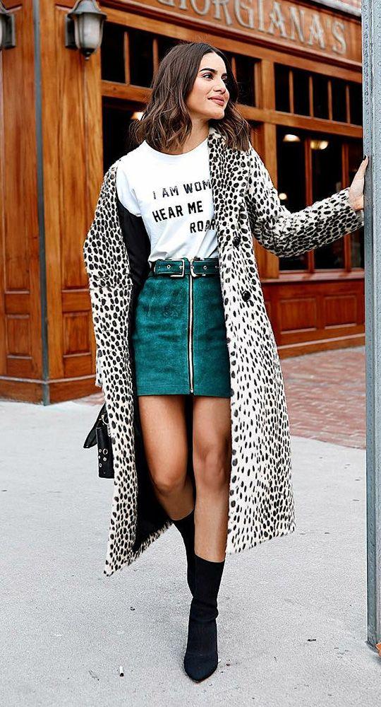 maxi casaco de pelinho, animal print, minissiaa e socks boots