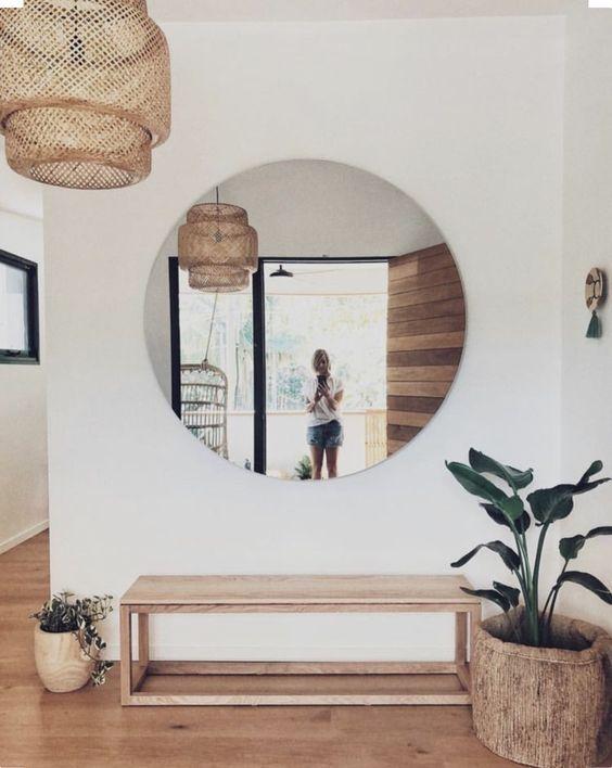 decoração de hall com espelhos