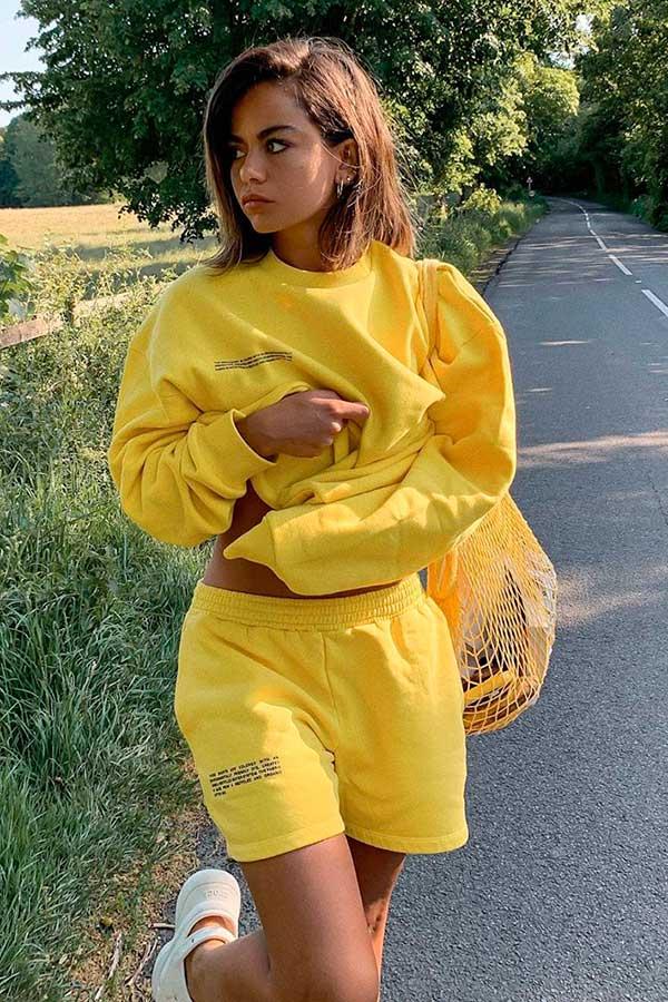 conjuntinho de moletom amarelo