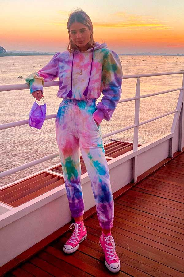 conjuntinho de moletom tie dye